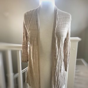 H&M ✌🏻 Boho Cream Open Knit Cardigan Sweater S